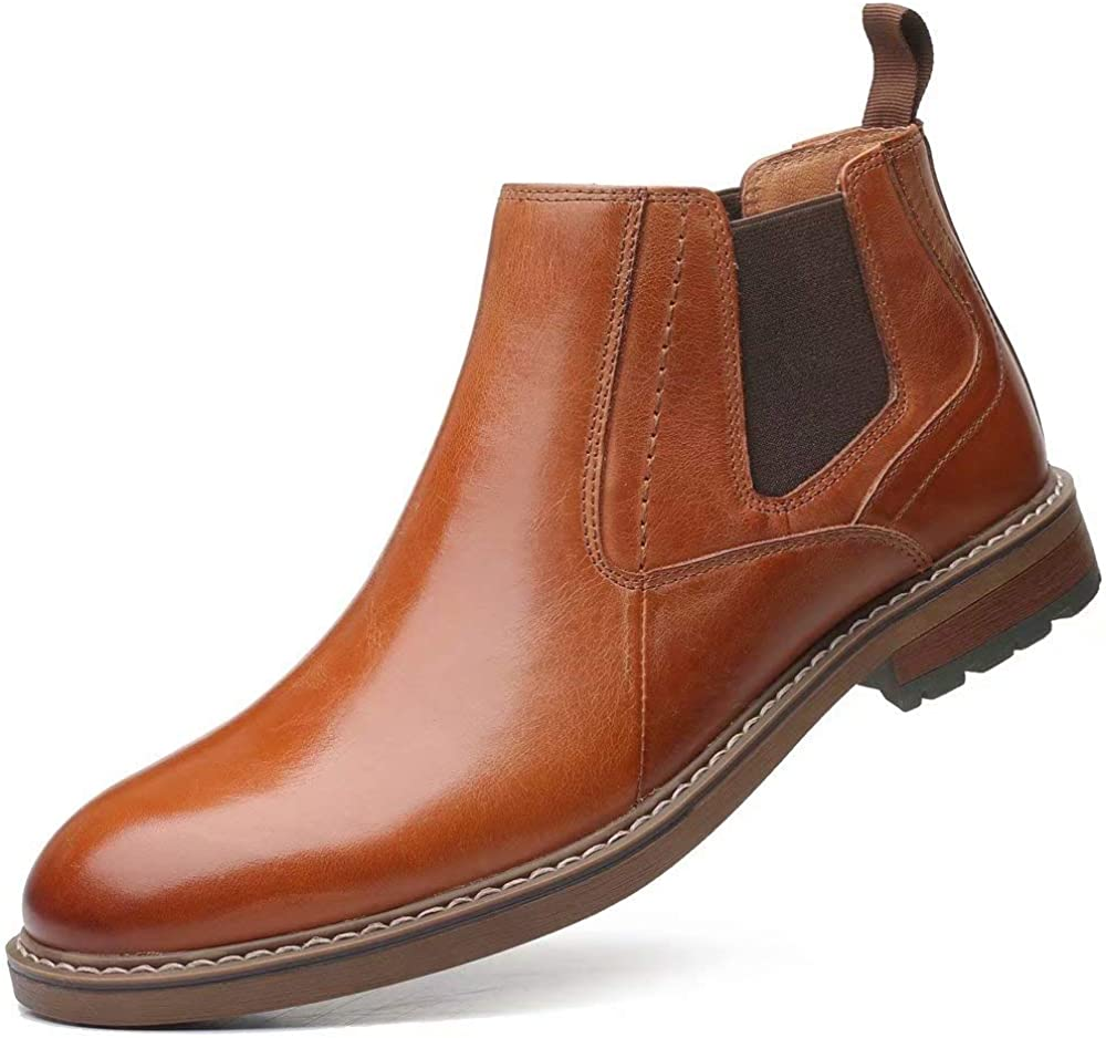Chelsea Ankle Boots for Men Genuine Leather Oxford Casual and Formal Dress Boot