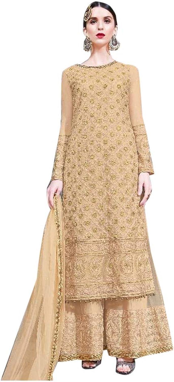 Wedding wear Heavy Embroidered Net Garara suit for Women Indian Muslim Reception dress Halfsewn 7570