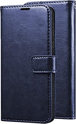 TheGiftKart Wallet Style Diary Flip Cover with Magnetic Lock Flip Cover for Samsung Galaxy M30 (Blue)