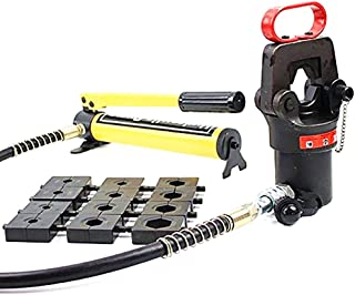 MXBAOHENG Hydraulic Hose Crimper Compression Heads with Hand Pump 16-500mm2 18 Ton Crimping Tool