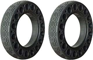 2PCS 10 Inch Rubber Solid Tires for Max G30 Electric Scooter Honeycomb Shock Absorber Damping Tyre Black