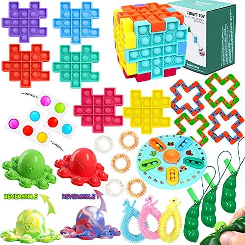 Fidget Toy 26 Pcs Pack Fidget Set Toys, Sensory...