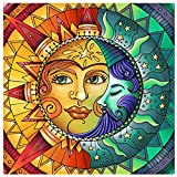 Diamond Painting Kits for Adults,Sun and Moon Face Full Drill Crystal Rhinestone Embroidery Cross Stitch,DIY 5D Paint by Numbers for Adults Beginner,Home Wall Decor 13.8'×13.8'