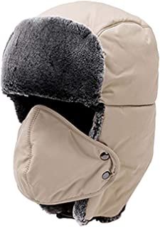 ba1d410670478 Winter Bomber Hats for Men Women Thicken Cotton Fur Winter Earflap Keep Warm  Caps Russian Skull