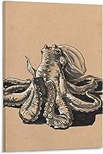 Een Octopus Canvas Prints Muur Art Moderne Muur Decor Home Art Print Klaar om te hangen Frame-stijl1 24x36 inch (60x90cm)