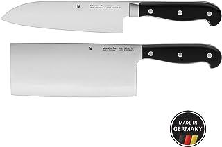 WMF Spitzenklasse Plus Asia - Juego de Cuchillos de Cocina (2 Unidades, forjados, Corte de Rendimiento, Cuchillo Santoku)