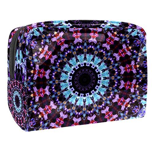 Tragbare Make-up-Tasche mit Reißverschluss, Reise-Kulturbeutel für Frauen, praktische Aufbewahrung, Kosmetiktasche, Mandala, Kaleidoskop