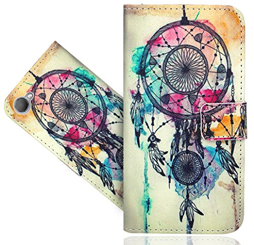HTC Desire 12 Handy Tasche, FoneExpert® Wallet Hülle Flip Cover Hüllen Etui Hülle Ledertasche Lederhülle Schutzhülle Für HTC Desire 12