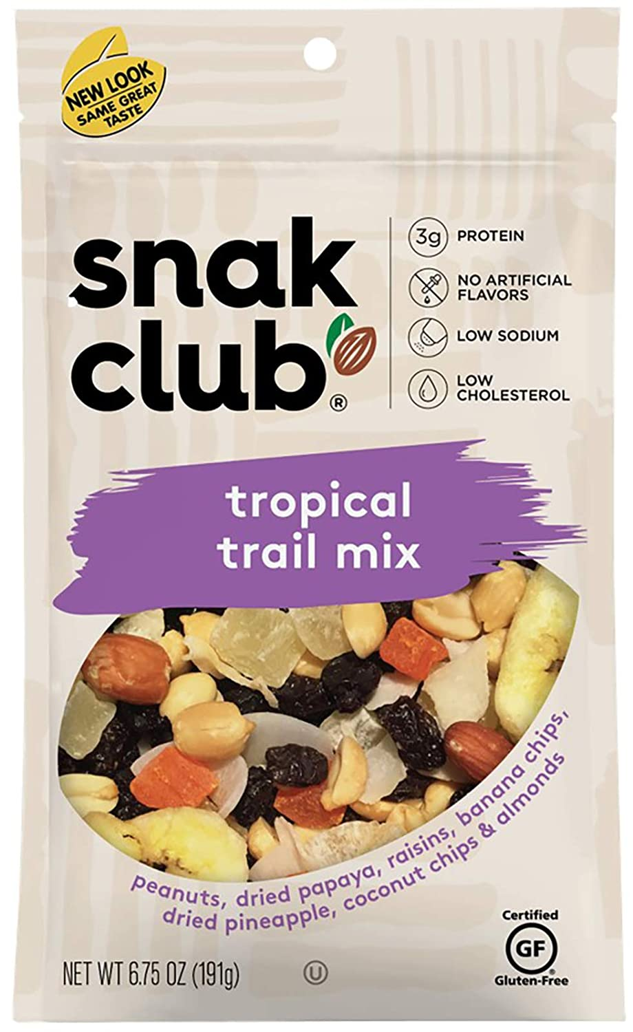 Snak Club Tropical Trail Mix Excellence 6.75 Ounce 6 Pack Classic of
