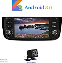 Android 8.0 Car Stereo, Hi-azul in-Dash 6.2 Inch Head Unit Octa-Core 64-bit RAM 4G ROM 32G Sat Nav with 1024600 Multi-Touch Screen for for Fiat Grande Punto/Fiat Linea (with Backup Camera)