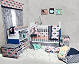 Bacati Emma Aztec 10 Piece Nursery-in-a-Bag Cotton Percale Girls Crib Bedding Set