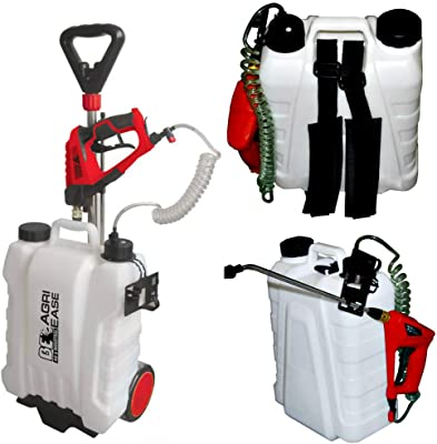 90.709.016 - Lithium-Ion Battery Powered Combination Backpack, Pull Type and Handle Carry Sprayer, 4 gallons (15 liters)