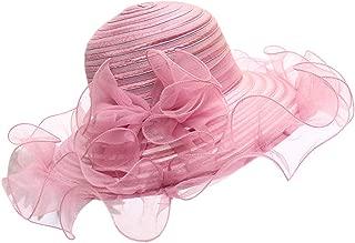 IFOUNDYOU Chapeau Weave Plage Conception /à la Mode des Petites Filles Adulte Femmes d/ét/é Canotier Classique cr/ème Solaire Weave Straw Ladies Flat Top Hat Plage