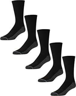 Nautica Men's Stretch Comfort Athletic Performance Crew Socks With Reinforced Heel And Toe (5 Pack)