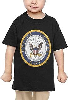 US Navy USS Kitty Hawk CV-63 Ship Veteran- Baby Infant Short Sleeve Round Neck Cotton T-Shirts