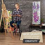 Zenacolor 5-TLG. Set Keilrahmen 20x20cm - Leinwand Malen - Painting Canvas zum Aquarellfarbe Ölfarbe Acrylfarbe malen - Leinwand auf Keilrahmen aus Holz 100% Säurefreie Baumwolle Leinwand Weiss - 3