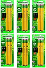 Dixon Ticonderoga My First Ticonderoga Pencils Kit w/Sharpener, 2 HB, Yellow, 4-Count - 6 Pack