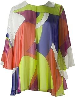 Marina Rinaldi Women's Flavia Silk Blouse, Multicolored, 22W / 31