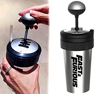 Fast and Furious 9 Water Cup - Shift Lever Style Cups 650ml smoothie cups with lids straws Best Gift for Movie Fans (black...