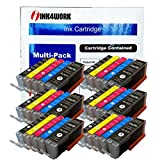 INK4WORK 30 Pack Compatible Ink Cartridge Replacement for Canon PGI-250XL PGI250 XL CLI-251XL CLI251 XL for use with Pixma MX722 MX922 MG5620 MG5420 MG5422 MG5520 MG5522 MG6620 iX6820 iP7220