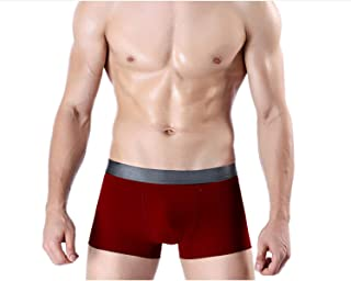 Men's 4 Pack Chafe-Free Underwear Seamless Nylon Boxer Briefs Fitness Running Shorts Trunks Cotton B L
