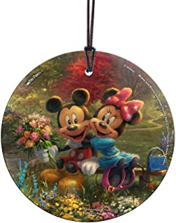 Trend Setters Disney Mickey and Minnie Mouse – Sweethearts - Central Park New York - Thomas Kinkade – Light Catcher Suncatcher Hanging Glass Collectible – for Gifting and Collecting Ltd.