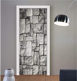 MXET Italy Como Lake Self-Adhesive Wallpaper On The Door PVC Waterproof Door Sticker 77X200Cm Art Home Decor Mural DIY Bedroom Renew
