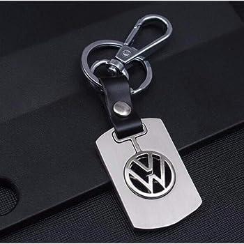 KR19-05//VW TROIKA-Original Boucle de Fil Noire Chrome /émail Brillant Porte-cl/és Logo VW Fonte m/étallique argent/é TROIKA VW Loop Volkswagen