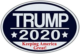 Oval Shaped Magnet - Donald Trump 2020 Keeping America Great - Republican Party Magnetic Bumper Sticker - 6
