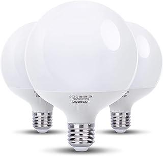 Aigostar - Pack de 3 Bombillas LED G120, globo, 18W, casquillo gordo E27, 1530 lumen, luz blanca 6400K