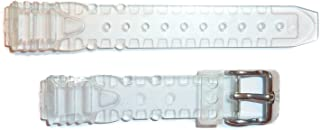 TechnoMarine 13MM Gel Plastic Watch Strap Band Clear with Silver TechnoMarine Logo Stainless Steel Buckle