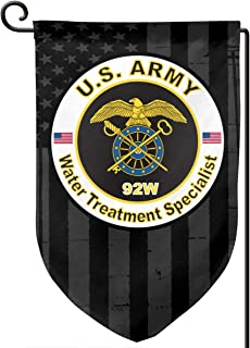 XIAYANGqi US Army MOS 92W Water Treatment Specialist and American Flag Garden Flag Home Flag Outdoor Flags Double Sided Flag