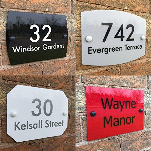 Placa de señal para casa personalizada dirección señal de la puerta número de casa nombre de la calle