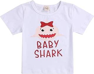 Newborn Baby Boys Girls Shark Doo Doo Doo T-Shirt Infant Cute Short Sleeve Top Onesie Clothes