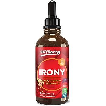 Liquid Iron Supplement for Kids - Natural Kids Iron Supplement - Elderberry Flavor Iron for Kids with Picky Taste Buds - Absorbs Faster Then Iron Gummies