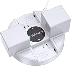 Itramax Arlo Battery Charging Station with Charger Adapter, 4 Slots Rechargeable Batteries Charger Dock (NO Batteries Included) for Arlo Pro Security Camera, Arlo Pro 2, and Arlo Go (White)
