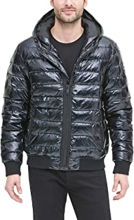 DKNY Men's Quilted Performance Hooded Bomber Jacket