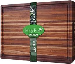 Teak Wood Cutting Board Kitchen   Add Beauty & Elegance to Your Kitchen Where Friends & Family Gather   Edge Grain & Handm...