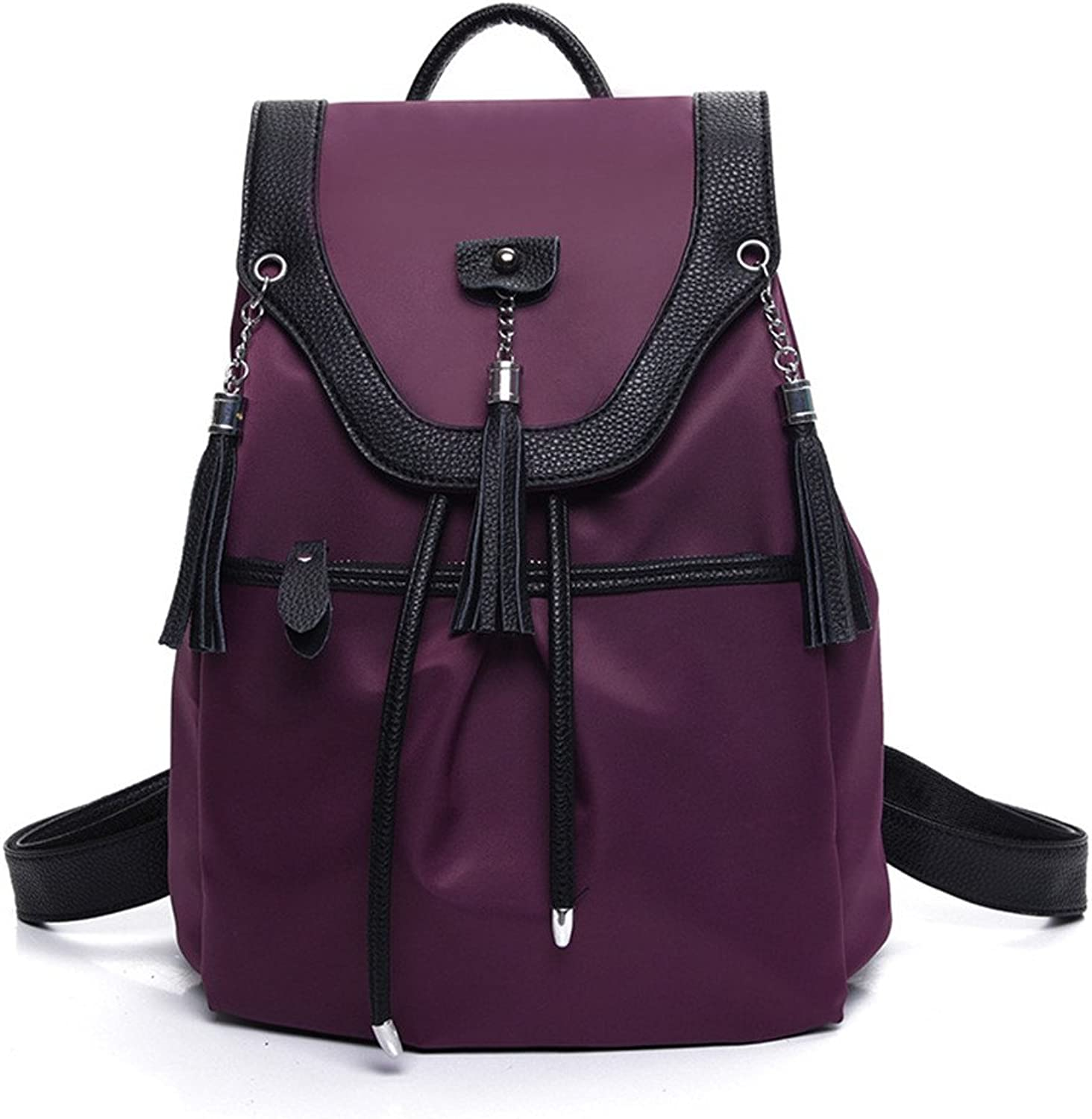 Ms. shoulders stylish package, nylon cloth edging dual shoulder bags and trendy wild PU STUDENT BACKPACK B