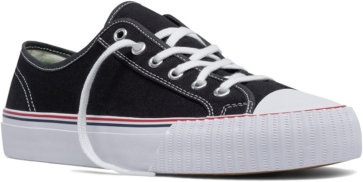 PF Flyers Men's MC2002BL, Black Whit, 8 D US