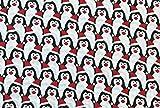 Oddies Textile-Polycotton Stoff – Rot, Schwarz und Weiß