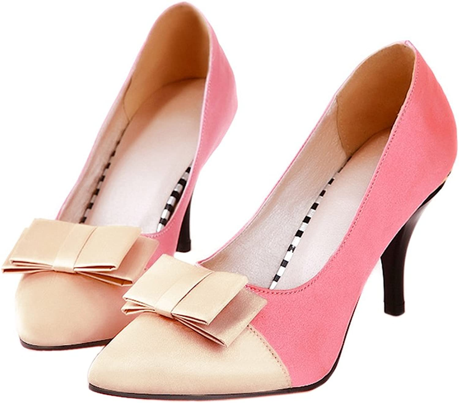 Thin Heel Pointed Chromatic color Sexy Women shoes pink 39