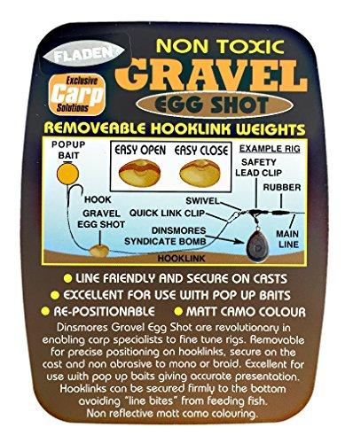 FLADEN Fishing Non Toxic Gravel Egg Shot Fishing Dispenser for Fine Tuning Carp Rigs - 5 Division - AAA, BB, 1, 4 & 6 [35-5DIVG]