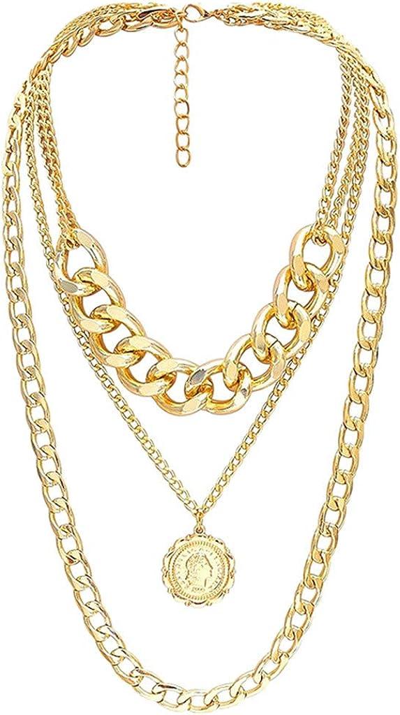 Gold Max 40% OFF Necklace for Women Chunky Padlock New item Jushye Lock