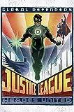 GB Eye Poster DC Comics Laterne, Art Deco, Mehrfarbig