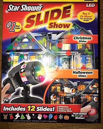 Star Shower Laser Light Show Projector Christmas SLIDESHOW LED Holiday Slides