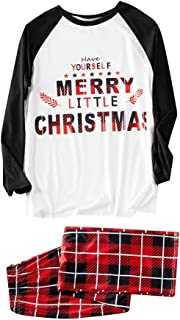 LONGDAYFamily Pajamas Matching Set Matching Christmas PJs for FamilyLittle Kid Toddler Boys Fit Cotton Pajama Set