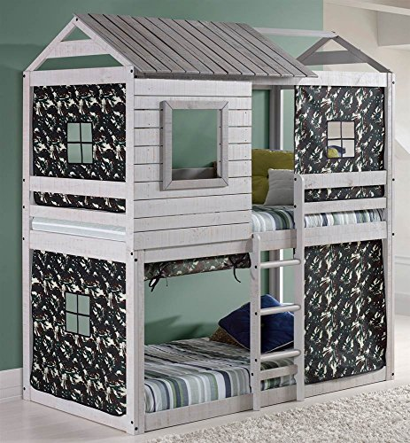 Donco Kids 1370TTLG/GC Series Bed, One Size, Light Gray