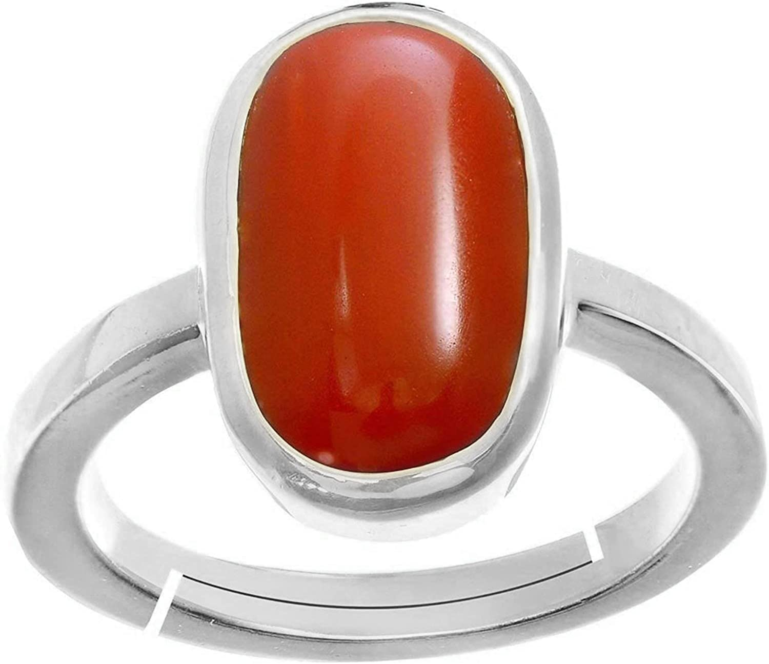 LMDPRAJAPATIS Natural We OFFer at cheap prices Italian Red Max 69% OFF Coral 925 Sterling Silv Moonga