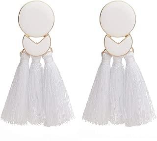 Fashion Colorful Tassel Earrings for Women Girls Bohemian Dangle Drop Earrings Christmas Gift Idea Fringe Tassle Dangling Earrings